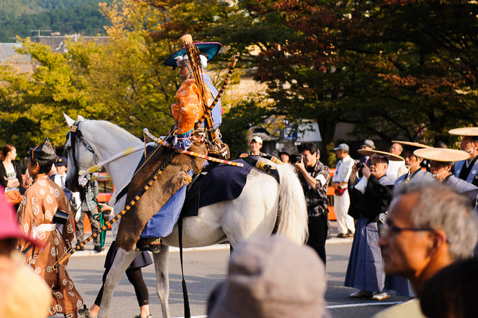 Wider View via a wider lens on a second camera body  --  Jidai Matsuri ()  --  Kyoto, Japan  --  Copyright 2012 Jeffrey Friedl, http://regex.info/blog/  --  This photo is licensed to the public under the Creative Commons Attribution-NonCommercial 3.0 Unported License http://creativecommons.org/licenses/by-nc/3.0/ (non-commercial use is freely allowed if proper attribution is given, including a link back to this page on http://regex.info/ when used online)