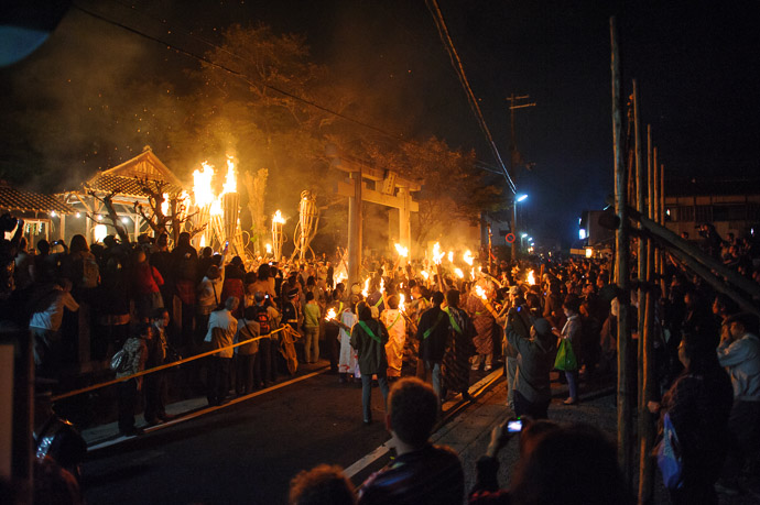 Wider View  --  Kurama Fire Festival ()  --  Kyoto, Japan  --  Copyright 2012 Jeffrey Friedl, http://regex.info/blog/  --  This photo is licensed to the public under the Creative Commons Attribution-NonCommercial 3.0 Unported License http://creativecommons.org/licenses/by-nc/3.0/ (non-commercial use is freely allowed if proper attribution is given, including a link back to this page on http://regex.info/ when used online)
