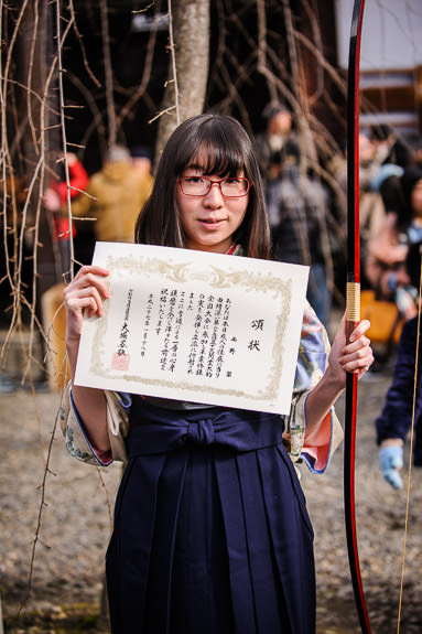 Certificate of Participation It was hard work to earn the right to be here -- Sanjusangendo Temple (三十三間堂) -- Kyoto , Kyoto, Japan -- Copyright 2015 Jeffrey Friedl, http://regex.info/blog/