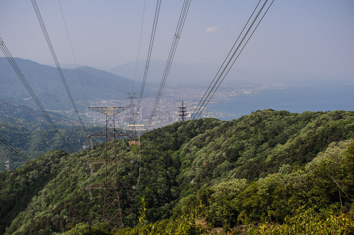 View of Otsu from the top of Mt. Otowa (音羽山) -- Mt. Otowa (音羽山) -- Kyoto, Japan -- Copyright 2015 Jeffrey Friedl, http://regex.info/blog/