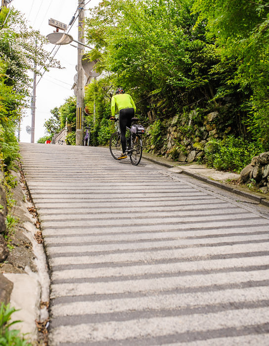 This Hill is Not Steep It's Nasty Steep photo by Manseki Kanemitsu -- Kyoto, Japan -- Copyright 2015 Jeffrey Friedl, http://regex.info/blog/