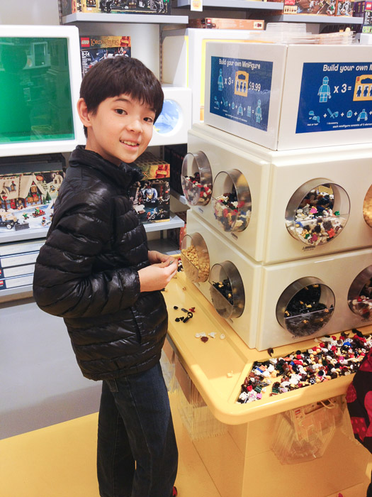 Creating His Own Minifigs  --  LEGO Store  --  Beachwood, Ohio, United States  --  Copyright 2013 Jeffrey Friedl, http://regex.info/blog/
