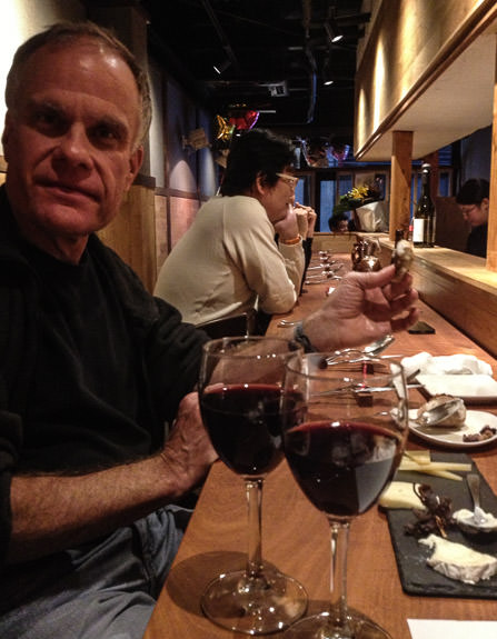 Paul Barr Joins Me Nov 30, 2013 as other customers also start filling the seats -- acá1° -- Kyoto, Japan