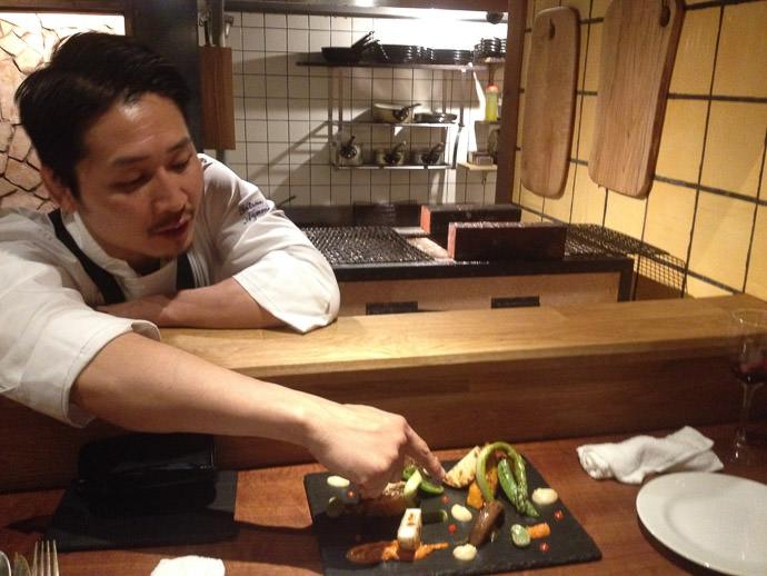 Grilled-Vegetable Plate May 5, 2014 -- acá1° -- Kyoto, Japan