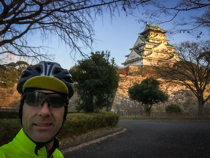 Obligatory Selfie -- Osaka Castle (大阪城) -- Osaka, Japan -- Copyright 2016 Jeffrey Friedl, http://regex.info/blog/