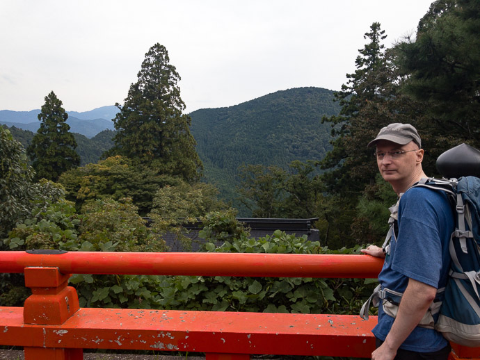 """The View of the Mountains is """" Meh? """" -- Kurama Temple (鞍馬寺) -- Kyoto, Japan -- Copyright 2017 Jeffrey Friedl, http://regex.info/blog/"""
