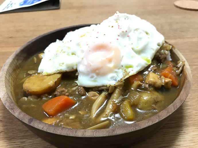 Huge Bowl of Curry that Yasuko-san had made -- 14-5 -- Naha, Okinawa, Japan -- Copyright 2018 Jeffrey Friedl, http://regex.info/blog/