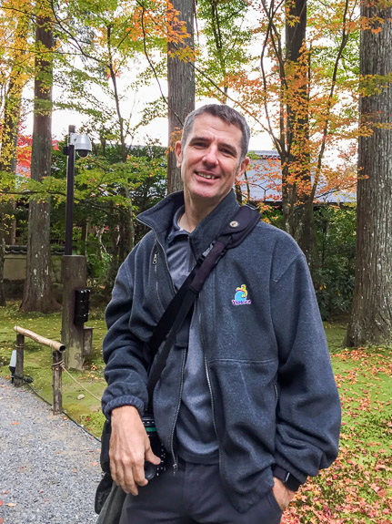 Me photo by Olesia -- Sanzen-in Temple (三千院) -- Kyoto, Japan -- Copyright 2018 Jeffrey Friedl, http://regex.info/blog/
