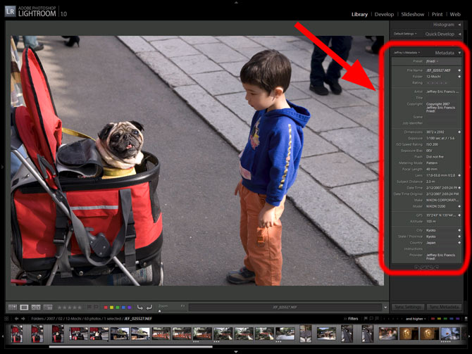 Adobe Lightroom's Metadata Viewer