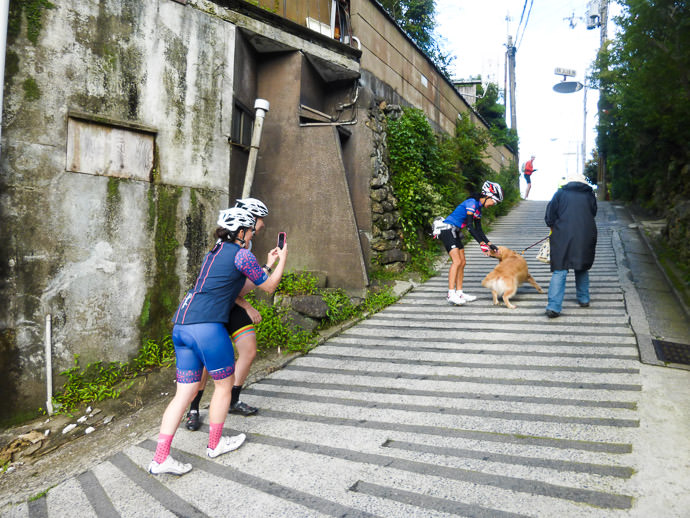 Just After I Passed this really shows the steepness photo by Manseki Kanemitsu -- Nasty 21% Slope -- Kyoto, Japan -- Copyright 2015 Manseki Kanemitsu