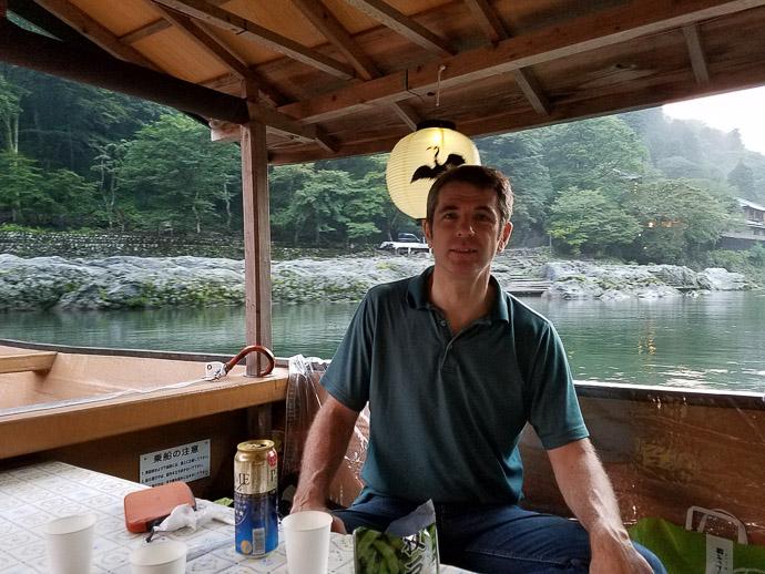 Me photo by Manseki Kanemitsu -- Arashiyama -- Kyoto, Japan -- Copyright 2017 Manseki Kanemitsu