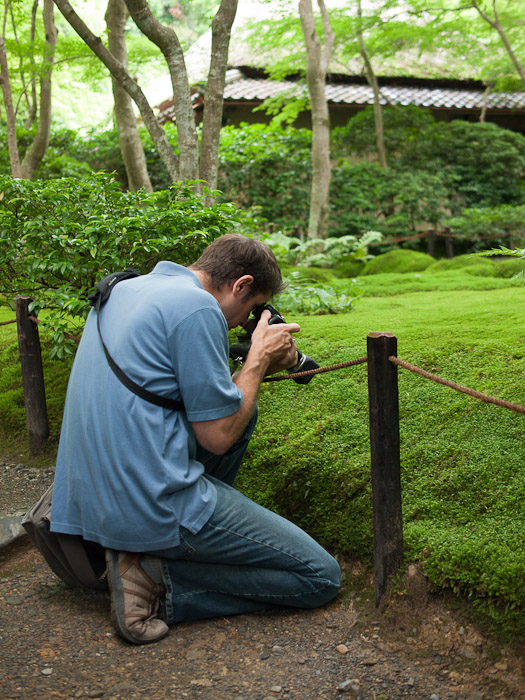Me and the Moss Detail photo by Nicolas Joannin  --  Kyoto, Japan  --  Copyright 2012 Nicolas Joannin, http://regex.info/blog/