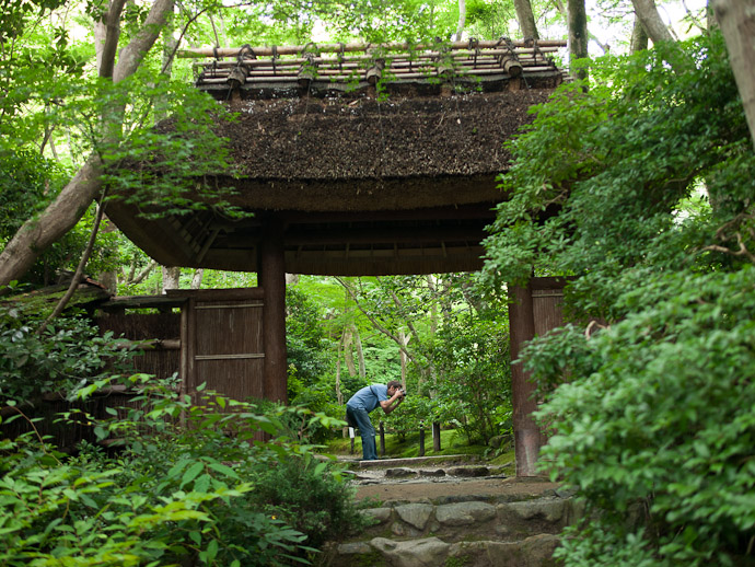 "Me Taking ""Ferns and Moss"" photo by Nicolas Joannin  --  Kyoto, Japan  --  Copyright 2012 Nicolas Joannin, http://regex.info/blog/"