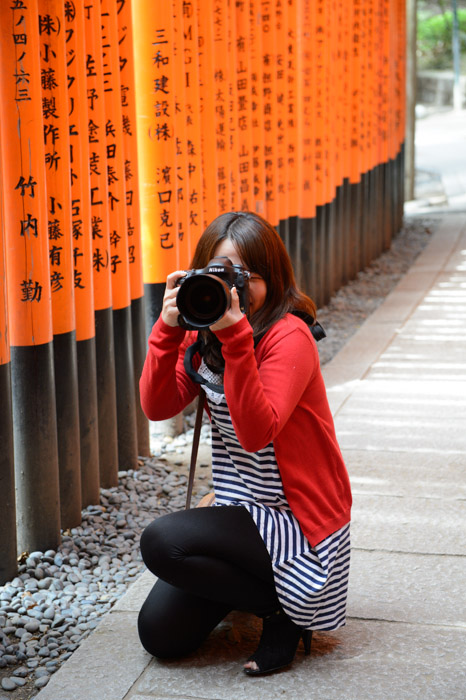 Yuko, Pro Photographer photo by Paul Barr -- Kyoto, Japan -- Copyright 2013 Paul Barr