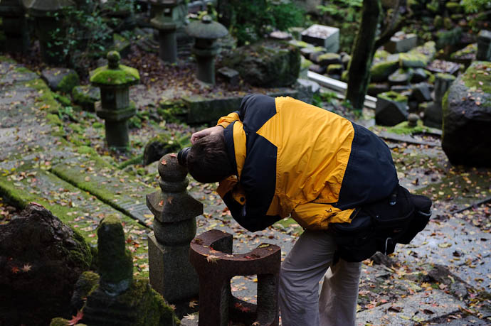 Getting Close at 14mm Photo by Paul Barr -- Nishimura Stone Lanterns -- Kyoto, Japan -- Copyright 2009 Paul Barr