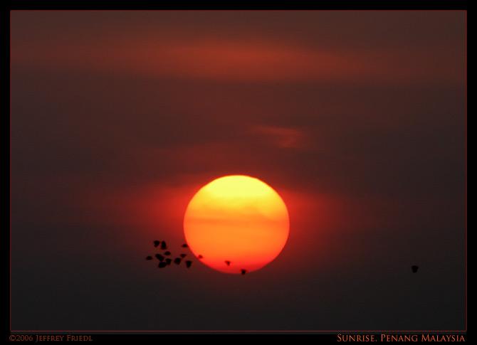 Sunrise, March 14 2006, Penang Malaysia