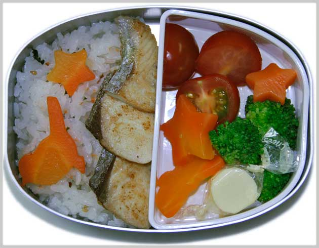 Japanese bento lunch for a three year old