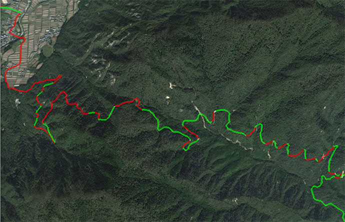 from Strava's elevation data