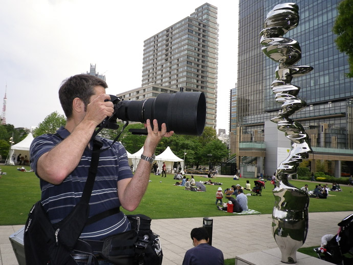 Lens In Action Photo by Nice Lady in Tokyo -- Tokyo Midtown -- Minato Ward, Tokyo, Japan