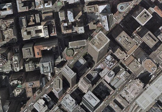 Google Maps view of San Francisco's financial district