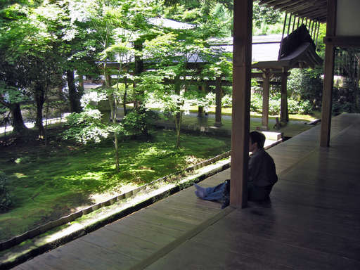 Garden at Ryouanji in the summer, Kyoto Japan