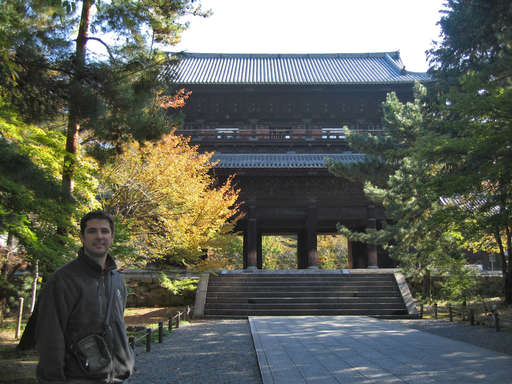 Jeffrey in front of the main gate of the Nanzen Temple (Nanzenji) in Kyoto, Japan