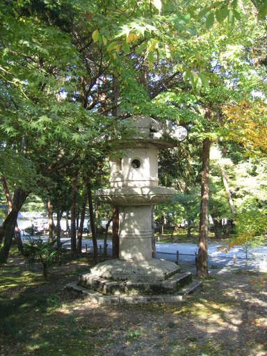 huge stone lantern near the main gate of the Nanzen Temple (Nanzenji) in Kyoto, Japan
