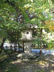 huge stone lantern