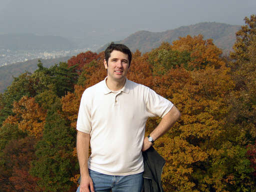 Jeffrey Friedl on Mt. Daimonji, Kyoto Japan. Photo by Katsunori Shimada