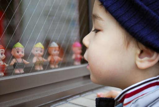 Anthony checking out Kyuupi Dolls