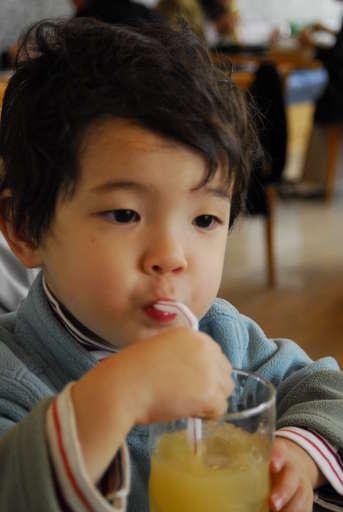 Orange-Juice drinking Anthony